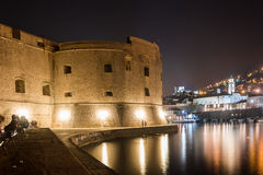 Fort of saint John and old port. Dubrovnik. Croatia Royalty Free Stock Images