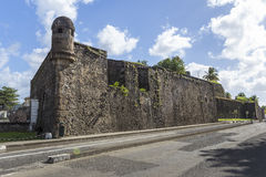 Fort Saint Louis in Fort-de-France, Martinique Royalty Free Stock Photo