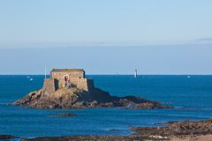 Fort in Saint Malo Royalty Free Stock Photography