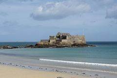 Fort in Saint Malo Stock Photo
