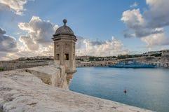 Fort Saint Michael in Senglea, Malta. Fort Saint Michael gardjola (watch tower) in Senglea, Malta Royalty Free Stock Photography