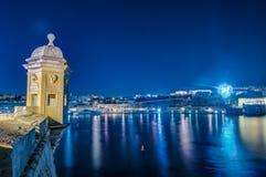 Fort Saint Michael in Senglea, Malta. Fort Saint Michael gardjola watch tower in Senglea, Malta royalty free stock image