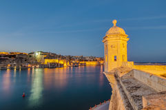 Fort Saint Michael in Senglea, Malta. Fort Saint Michael gardjola (watch tower) in Senglea, Malta royalty free stock photo