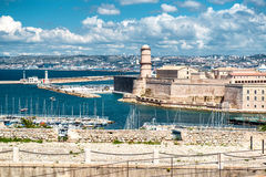 Fort Saint Nicholas in Marseille Stock Photos
