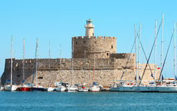 Fort Saint Nicholas, Rhodes Royalty Free Stock Photo