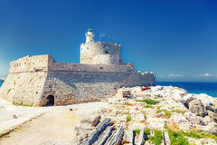 Fort of Saint Nicholas in Rhodes Royalty Free Stock Photo