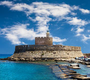 Fort Saint Nicolas Rhodes, Greece Stock Image