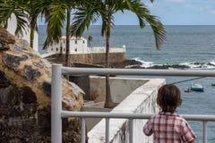 Fort Salvador Bahia, Brazil,travel. Fort in Salvador Bahia, Brazil,Barra beach,coast stock photos
