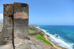 Fort San Cristobal Overlooking Beach Stock Images