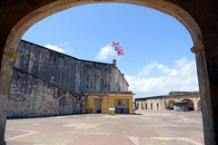 Fort San Cristobal in Puerto Rico stock foto