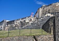 Fort San Cristobal, San Juan, Puerto Rico Stock Afbeeldingen