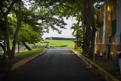 Fort San Felipe del Moro, San Juan Puerto Rico. Long view of Fort San Felipe del Moro, San Juan Puerto Rico Stock Images