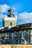 Fort San Felipe Del Morro i San Juan, Puerto Rico på soluppgång arkivbild