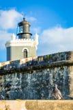 Fort San Felipe Del Morro i San Juan, Puerto Rico på soluppgång arkivfoton