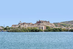 Fort San Felipe in der alten Stadt Cartagena, Kolumbien Lizenzfreies Stockbild