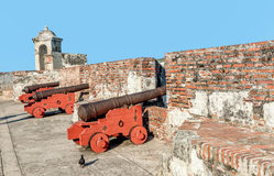 Fort San Felipe in old town Cartagena, Colombia.  royalty free stock image