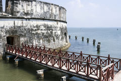 Fort of San Fernando de Bocachica. Bridge at San Fernando de Bocachica Fort Stock Photo