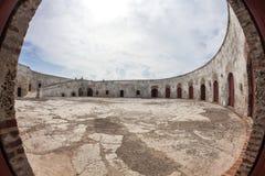 Fort of San Fernando de Bocachica. Parade ground  at San Fernando de Bocachica Fort Stock Photo