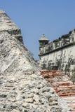 Fort of San Fernando de Bocachica. Wall and bartizan at San Fernando de Bocachica Fort Royalty Free Stock Photo