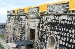 Fort San Jose - gul fästning i Campeche, Mexico Stad för Unesco-världsarv royaltyfria foton