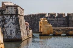 Fort San Juan de Ulua in Veracruz-Stadt Stockfotografie