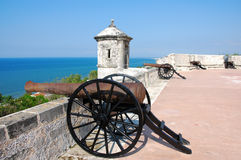 Fort of San Miguel in Campeche Stock Photos