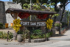 Fort San Pedro in Cebu, Filippijnen Stock Foto