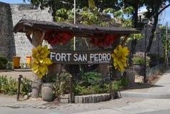 Fort San Pedro i Cebu, Filippinerna Arkivfoto