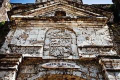 Fort San Pedro i Filippinerna Arkivfoto