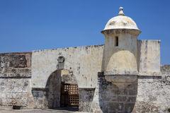 Fort of San Sebastian del Pastelillo. Entrance San Sebastian del Pastelillo Fort Royalty Free Stock Photography
