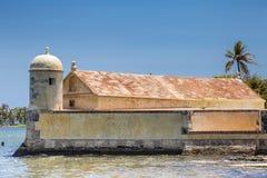 Fort of San Sebastian del Pastelillo. San Sebastian del Pastelillo Fort located in Manga, Cartagena de Indias Royalty Free Stock Photo
