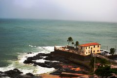 Fort Santa Maria in Salvador, Bahia. He Fort of Santa Maria in Porto da Barra, Salvador-Bahia, was built from 1614 Stock Images