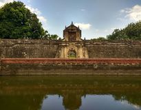 Fort Santiago. Fortress Santiago is a bastion initially worked by Spanish conquistador, Miguel López de Legazpi for the new settled city of Manila in the Royalty Free Stock Images