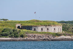 Fort Scammel East Bastion. Historic Fort Scammel on House Island in Maine Royalty Free Stock Photography