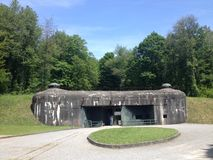 Fort Schoenenbourg part of the Maginot Line, Alsace, France Royalty Free Stock Images