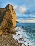 Fort by sea in sunset Royalty Free Stock Photography