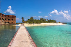 Fort sec Jefferson de Tortugas Image libre de droits