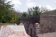 Fort Shirley in Portsmouth, Dominica, Lesser Antilles, Windward Islands, West Indies. Caribbean stock photography