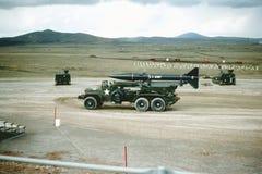 Fort Sill, Oklahoma Artilleriereichweite 1965 Douglas Honest John-Rakete lizenzfreies stockfoto