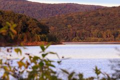 Fort Smith Lake. A beautiful view of Fort Smith Lake nestled in the Boston Mountains located in Fort Smith Arkansas 2017 Royalty Free Stock Photo