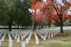 Fort Smith National Cemetery, novembre 2016 Image libre de droits