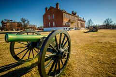 Fort Smith National Historic Site. Canon outside of courthouse at Fort Smith National Historic Site in Arkansas Stock Photography