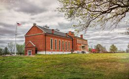 Fort Smith National Historic Site. The Courthouse at was once a fort on the Arkansas River in Fort Smith, Arkansas, at the National Historic Site, showing the royalty free stock photography