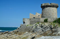 Fort Socoa w Atlantyckim wybrzeżu zdjęcie stock