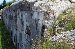 Fort Sommo utilisé de l'armée pendant la première guerre mondiale en Italie Photo libre de droits