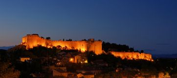 Fort St Andre at night. Fort St Andre in Villeneuve-les-Avignon at night Royalty Free Stock Photos