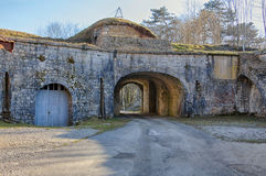 Fort st-Andre in salins-les-Bains Royalty-vrije Stock Foto