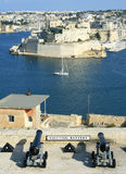 Fort St Angelo. View of Fort St Angelo at Vittoriosa (Birgu) from Upper Barracca Garden (Valletta, Malta, Maltese islands Royalty Free Stock Photo