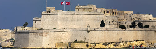 Fort St Angelo. The beautiful Fort St Angelo in the Grand Harbour in Malta Royalty Free Stock Photography