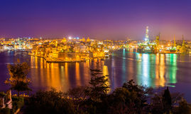Fort St. Angelo and Dockyard Creek. In Malta Stock Photos